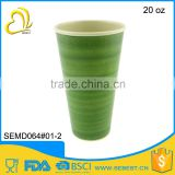 ECO friendly good Quality plastic round travel coffee mug                                                                                                         Supplier's Choice