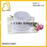 Melamine cup with saucer