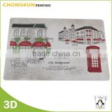 Waterproof UV printed recycled plastic placemats