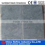 tumbled black limestone natural stone tile