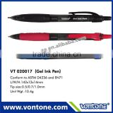 High quality retractable gel ink pen for promotion