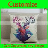 Customized printed cute animal paiting cotton baby sleeping pillow cover
