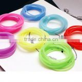 Factory direct Sell silicone rubber band bracelets,wholesale cheap rubber loom band in bulk for women bracelets