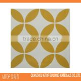Yellow flower texture leaf look cement body carpet tile 20x20cm 2016 wholesale chinese cement material tiles home decor