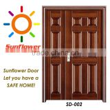 2015 lastest design mother and son steel door for villa SD-002