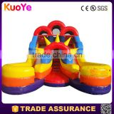 16' Tall Inflatable Double Lane Splash Water Slide For Backyard Parties