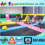 commercial gymnastics kids trampolines, jumping bed for kids