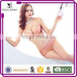 daily classical romantic China supplier underwired women in pink bra and panties sexy bra panty girls