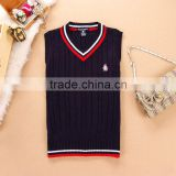 V-neck sweater knitting cashmere school sweater college English boy and girl
