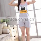New Girls Pajamas causal Cotton summer Vest sets women pajamas sets Sleepwear For women Home wear Nightgown lovely pyjamas