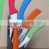 6pcs ceramic knife set with block