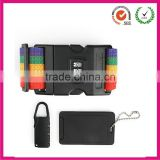Adjustable rainbow luggage strap with lock buckle
