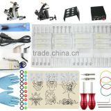 TK108006 Starter Tattoo Kit 2 Machine Guns Grips Needles Power Set Equipment Supplies