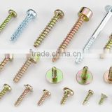 High Quality Low Carbon Steel Green Zinc Blue Zinc Plating Machine Screw