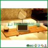 FB7-5004 bamboo bathtub caddy with mirror