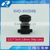 "3 mega pixel 1/2.7"" 2.8mm F1.85 for surveillance indoor camera DC auto iris CS mount all metal lens"