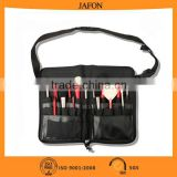 New style PU black metal zip head belt pouch for the makeup brush                                                                         Quality Choice