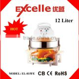 Large capacity 17L with extender ring halogen heater lamp for halogen flavorwave convection turbo oven