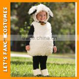 PGCC-2657 Hot comfortable charming white sheep costume crochet mini baby shower gift cheap newborn baby clothing set baby gift