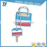mini padlock with keys luggage plastic lock pvc lock cover                                                                         Quality Choice