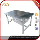 Cheap garage stainless steel metal workbench worktable with drawers
