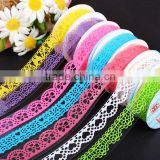 DIY Craft Crochet Cotton Knit Lace Sticker Ribbon Tape Roll Adhesive Beige