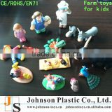 OEM small plastic farm animal toys for kids