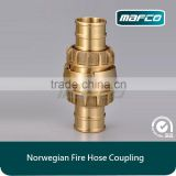 Brass Norwegian Nor Norlas fire hose coupling