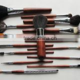 professional 15 pcs animal hair cosmetic make up brushes set