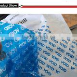 Blue bag sealing tape security void tape