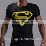 2016 Superman Logo Offset Print Compression T Shirt Brand Famous Marvel Superhero Fitness Men Short Sleeve Crossfit T Shirt
