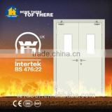 Double steel fire emergency exit door