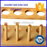6-12 holes hospital medical lab wooden test tube rack