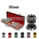 Casino Ultimate Poker Chip Set with Black Aluminum Case - 500 Piece