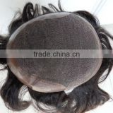 natural looking 100% human hair super fine swiss lace toupee                                                                         Quality Choice