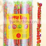 14ct watermelon bubble gum balls with printed wrapper in PVC jar(fruit flavour chewing gum candy)