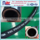 Hengshui wire inforced hydraulic high pressure rubber tube price