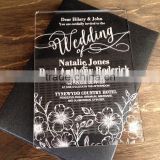 New design acrylic laser cut wedding invitations wholesale