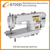 highly integrated machatronic computer direct drive lockstitch sewing machine with auto trimming