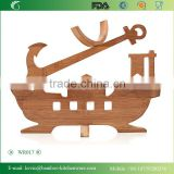 WR017/China manufacturer bamboo wine rack wooden beverage display rack antique wine stock rack