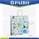 RT-15 Bottom gray paperboard Hand bag Hand made with handle professional factory CARTOON KIDS