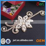 Wholesale bridal beaded crystal rhinestone appliques for dresses