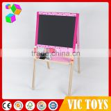 2016 Painting wooden blackboard with storage box,Wooden Kids Writing Blackboard,Promotional Wooden christmas easel toy