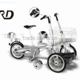 Personal folding shopping cart with disc brake