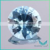 Round Brilliant Cut Synthetic Spinel Aquamarine Gem Price