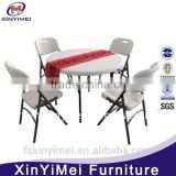 elegant foldable plastic folding chair and table