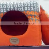 Good quantity canvas fabric cat cave ,cat house with removable cushion ,Double function cat house