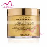 Face lift mask crystal bio-friendly disposable moisturizing Anti wrinkle 24k pure gold facial mask
