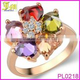 2014 Fashion Trend Elegant Natural Yellow Topaz Rings Mystic