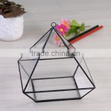 2016 most fashionable Clear Glass Prism Air Plant Terrarium / Tabletop Succulent Plants Holder Home Decor Flower Pots